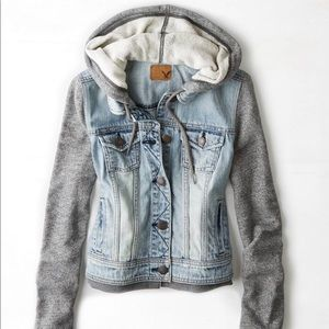 American Eagle Outfitters Jackets & Coats - American Eagle Hoodie Denim Jacket